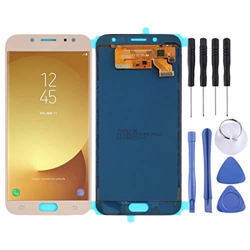 PANTALLA LCD Accesorios para Celular COU y ensamblaje Completo del digitalizador (Material TFT) for Galaxy J7 (2017), J730F / DS, J730FM / DS (Negro) (Color : Gold)