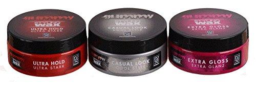 Fonex Cire coiffante Gummy Styling Wax Ultra Strong Hold, Look Casual & Extra Gloss (150 ml) | Cire pour cheveux avec plus de brillance | Cire pour homme | Cire pour cheveux courts et longs