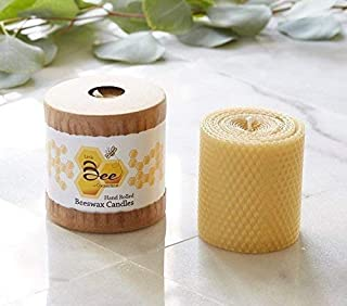 3 Inch Hand-Rolled Beeswax Pillar Candle - Little Bee of Connecticut