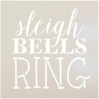 Sleigh Bells Ring Stencil by StudioR12 | Rustic Vintage Christmas Word Art - Reusable Mylar Template | Painting, Chalk, Mixed Media | Use for Journaling Home Decor - STCL1408 … SELECT SIZE (12