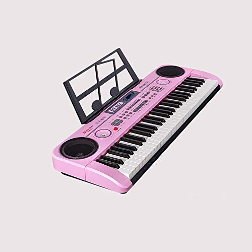 New Electronic Piano Toy, 61-key Practice Keyboard Microphone Piano Stand Power Cord, Children's Beg...