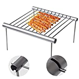 <span class='highlight'>Portable</span> Camping <span class='highlight'>Grill</span>, Mini Folding Compact <span class='highlight'>Stainless</span> <span class='highlight'>Steel</span> Charcoal Barbeque <span class='highlight'>Grill</span> Detachable Lightweight l Barbeque <span class='highlight'>Grill</span> for Campers, Backpacking, Backyards, Survival (Silver White)