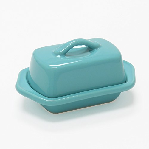 Chantal Aqua Blue Ceramic Mini 5 Inch Butter Dish