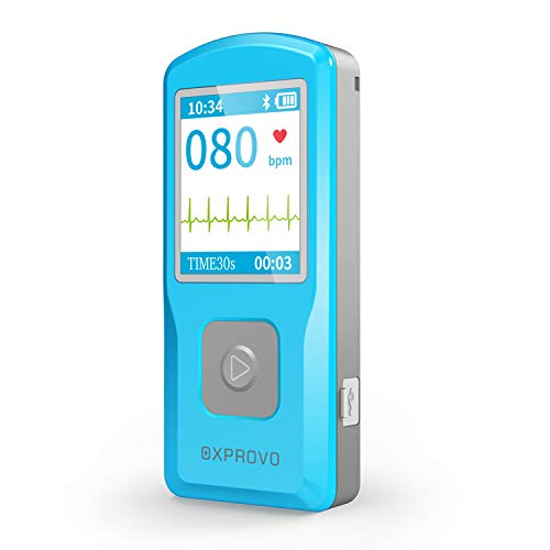 OXPROVO Portable EKG/ECG Heart Monitoring Devices with Software Compatible with Windows & Mac Detects AFib Bradycardia and Tachycardia in 30 seconds
