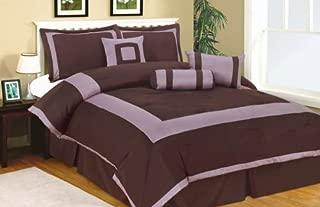 Linen and Furniture 7pc King Size Plaza Comforter Set Purple
