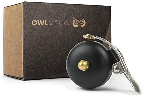 OWL VISION Fahrradklingel Hoot - Classic (Mini Black)