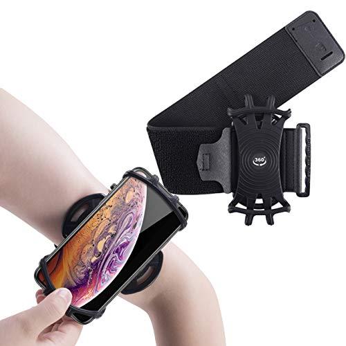 Mankoo Running Armband, 360° drehbar, Universal Handy Halterung, Kompatibel mit alle 4-6.5 Zoll Smartphones