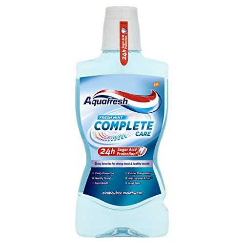 Aquafresh Complete Care Mouthwash with Fluoride, Fresh Mint, 500 ml