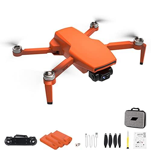 RHNE SG108 Pro 4K Drone 2-Axis Gimbal Cámara Profesional GPS 5G WiFi FPV Dron Sin escobillas Larga Distancia 1000m RC Quadcopter Naranja 3 * baterías