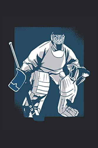 Notizbuch: Blanko Notizheft mit Eishockey Torwart Cover |120 linierte Seiten | Softcover | A5 Format | perfekt für Notizen, Texte, Aufzeichnungen etc.