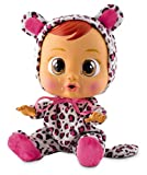 Bebés Llorones Lea - Muñeca interactiva que llora de verdad con chupete y pijama de Leopardo...