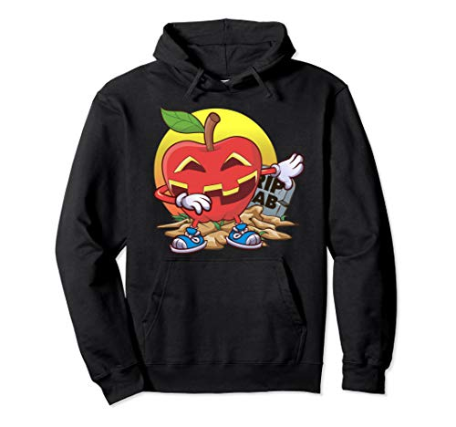 Apfel Halloween Tupfen Apfel-Laterne Jack O Laterne Geschenk Pullover Hoodie