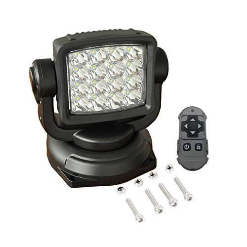 Lightronic 80W 10000 Lumens Long-Range Spot Beam Off-Road Wireless Remote Control LED Search Light 1-Piece