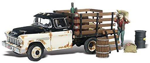 Henry's Haulin 1955 Chevy Truck w/Figure & Acc. N Scale Woodland