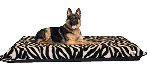 KosiPet High Density Orthopedic Dog Bed Mattress with Removable Cover Pet Bed UK (X-Large Zebra)