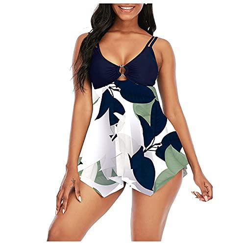 costume mare donna militare Rawdah_ Tankini da Bagno per Donna Mare Curvy Vita Alta Costume da Bagno a Due Pezzi Sexy Donna Tankini Canottiera+Pantaloncino da Bagno Costume per Mare
