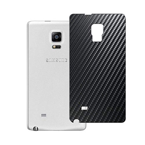 Vaxson 2 Unidades Protector de pantalla Posterior, compatible con Samsung Galaxy Note Edge N9150 SC-01G SCL24, Película Protectora Espalda Skin Cover - Fibra de Carbono Negro