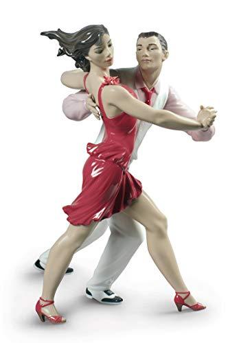 LLADRÓ Pärchen-Figur Salsa. Limitierte Auflage. Salsa-Tänzer. Porzellan.