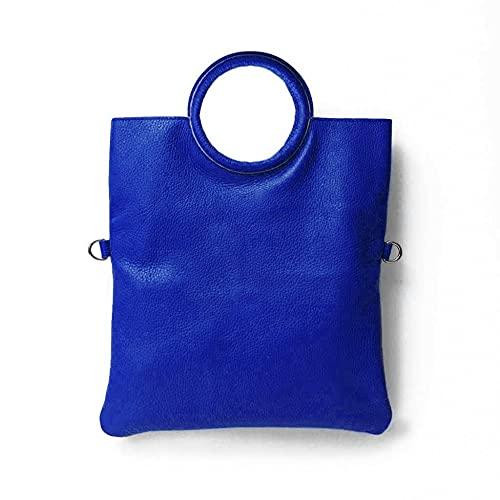 MARANT - SWAMY Bolso de piel con bolso y bandolera. Bluette (Azul Eléctrico) S