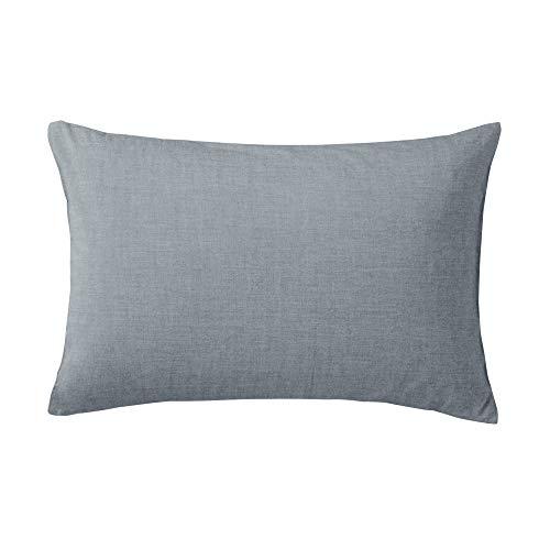 Muji Gewaschen Baumwolle Kissenbezug, 75 cm Länge x 50 cm Breite, Marine