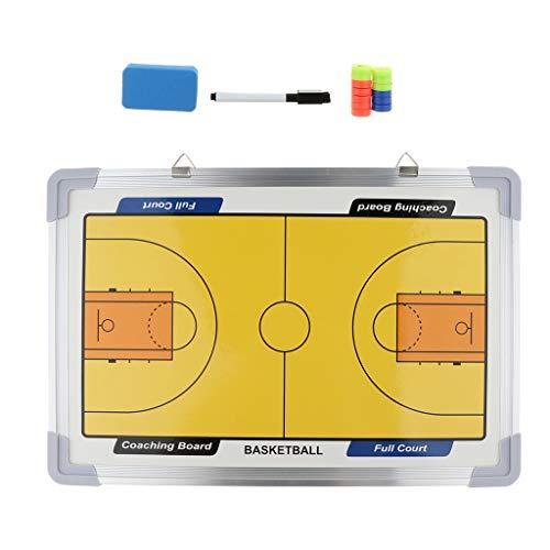 B Baosity Basketball Taktikboard Strategie Coaching Board Kit aus Aluminiumlegierung, mit Haken