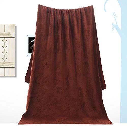 Lyolk Toallas de baño Grandes para Adultos, sábanas absorbentes Suaves para Hombres y Mujeres, Toallas Grandes, marrón [Grosor Medio] _80x180cm