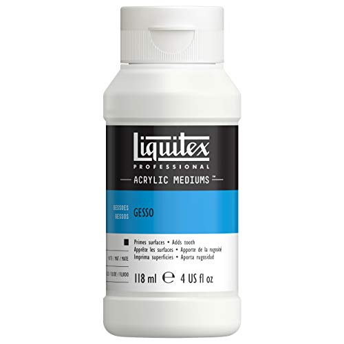 Liquitex 5304 Professional Gesso, Grundierung für Acrylfarben, licht und alterungsbeständiger Primer, gebrauchsfertig - 118ml Flasche, weiß