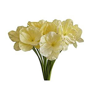 AntranStore 20Pcs Poppies Artificial Flowers for Home Kitchen Wedding Decor DIY Floral Arrangements Bouquets