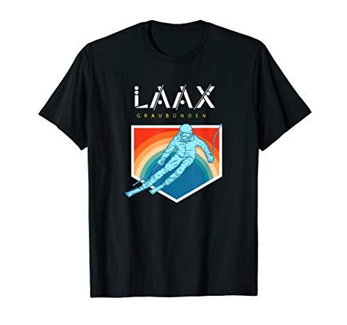 Laax Graubünden - Schweiz Retro 80s Skiferien Geschenk T-Shirt