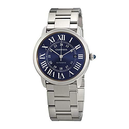 Cartier Ronde Solo WSRN0023 Reloj automático con Esfera Azul para Hom