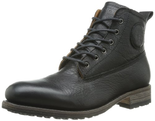 Blackstone Herren MID LACE UP Boot Chukka, Schwarz (Black), 44 EU