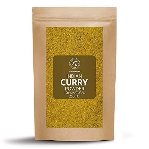 Polvo de Curry Indio - Polvo de Curry Madrás - Especia India para Cocinar - Condimento para Carne de Pollo y Vegetales - Especias Indias - Vegetariano - Vegano - Cocina India - 250g