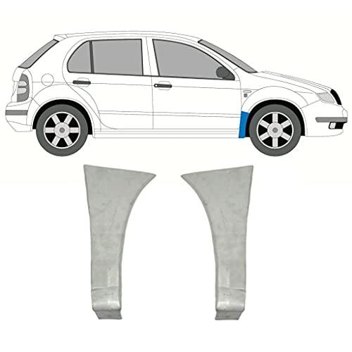 Juego de 2 paneles de reparación de alas delanteras compatibles con Skoda Fabia / 1999-2007 / todos los modelos/acero sin pintar, para ambos lados del coche/Deshazte del óxido en tu coche