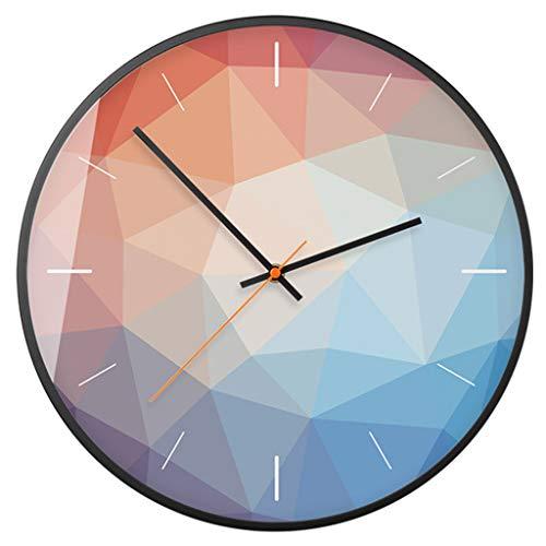 W-xiao uhr Wanduhr Quarzuhr Runde Farbe Geometrisches Muster Moderne Minimalistische Dekorative Uhren für Wohnzimmer Schlafzimmer Küche Büro