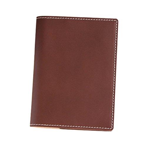 (ブラン・クチュール)BlancCouture 本革手帳カバー「A6サイズ」ノートカバー/国産フルタンニンドレザー(チョコレート)