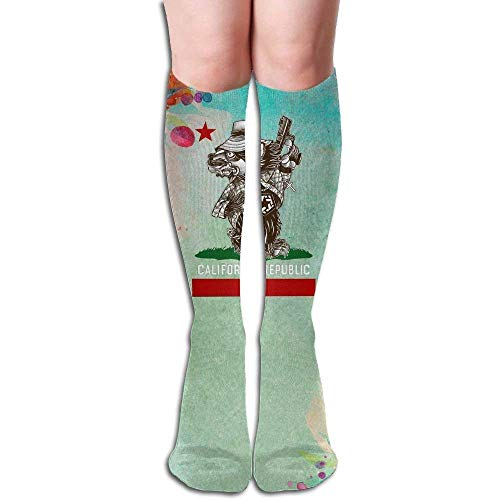 Yuanmeiju Compression Calcetines YOGA-PEACE-LOVE Unisex Full Calcetines Long Calcetines Knee High Calcetines (Long 50cm