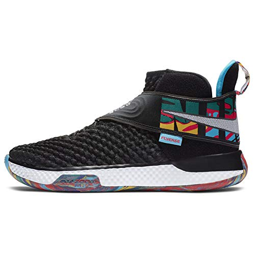 Nike AIR Zoom UNVRS Basketball Shoes (Black/Black/Current Blue/White, 13)