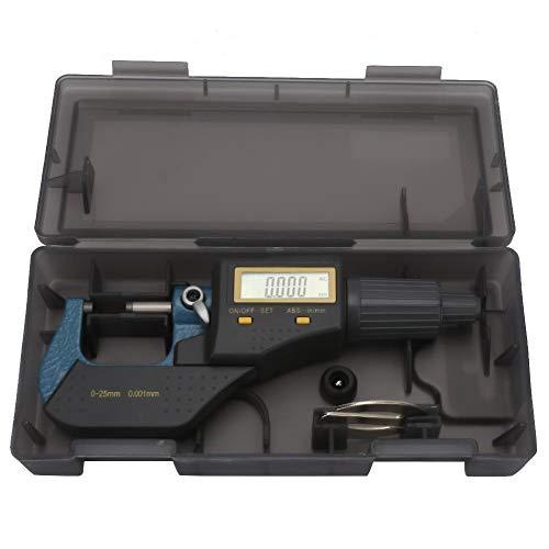 Samfoxy Micrometer-Samfox Micrómetro electrónico Exterior 0.001 mm Micrómetro 0~25 mm Micrómetro Micrómetro Digital
