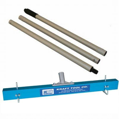 Kraft Tool CC975 24' Gauge Rake/Leveler w/3-piece Aluminum Handle
