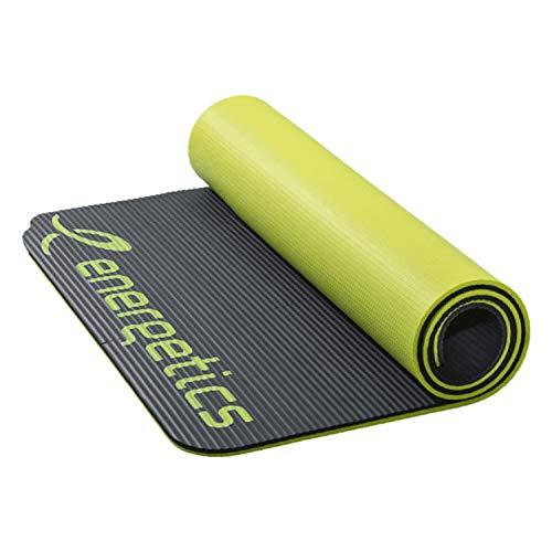 ENERGETICS Unisex– Erwachsene Gymnastik-Matte-183002 Gymnastik-Matte, Grey/Yellow, 185 x 100 x 1,5cm