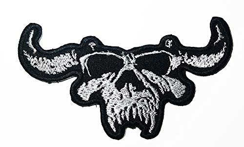 Music D Skull Heavy Metal Gothic Metal Hard Rock Blues Rock Industrial Metal Band Logo Patch Embroidered Sew Iron On Patches Badge Bags Hat Jeans Shoes T-Shirt Applique