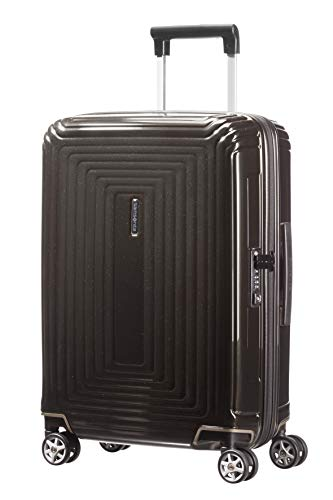Samsonite Neopulse Spinner S (Width: 20 cm) Hand Luggage, 55 cm, 38 Liter, Black (Metallic Black)