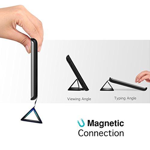 MoKo Huawei MediaPad T3 7.0 Hülle - Ultra Lightweight Slim PU Leder Tasche Schutzhülle Schale Smart Shell Case Cover mit Standfunktion für Huawei MediaPad T3 7.0 Zoll Tablet, Schwarz - 3