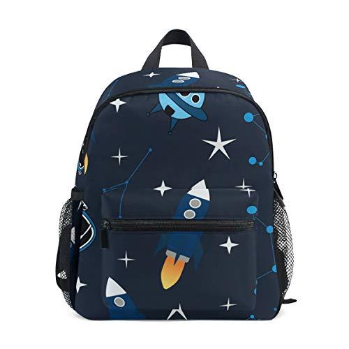 Schultasche Vorschulrucksack Konstellation Rakete Astronaut Kindergarten Kindergarten Rucksack Leichte Büchertasche für Mädchen Jungen Kleinkind Alter 3-5 Kinder