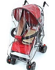 Pokrowiec przeciwdeszczowy na wózek dziecięcy - WENTS plastikowy przezroczysty pokrowiec przeciwdeszczowy dla buggy wodoodporny odporny na kurz wiatroszczelny uniwersalny wózek przeciwdeszczowy 15,7 x 14,8 cm