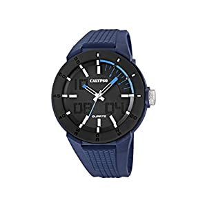 Calypso Watches Reloj Multiesfera para Hombre de Cuarzo con Correa en Plástico