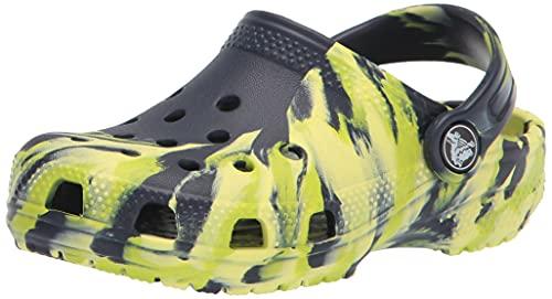 Crocs Kinder Schuhe Classic Marbled Clog 207002 Navy/Multi 36-37