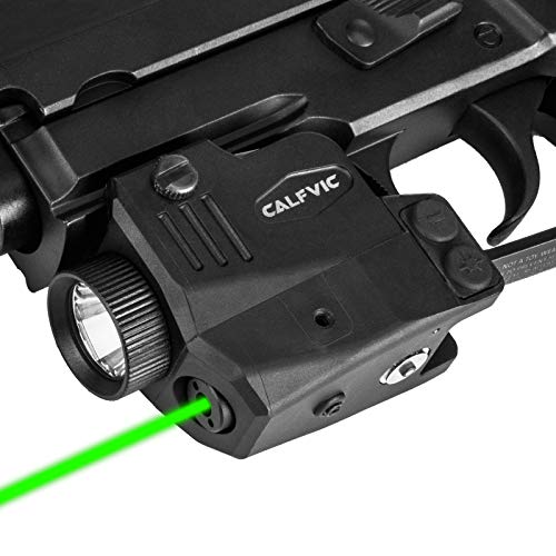 Pistol Light Laser Sight Gun Light Picatinny Weaver Rail with Magnetic Charging Quick Release Strobe Function Tactical 450 Lumens LED Laser Sights for Handguns Pistol Rifle