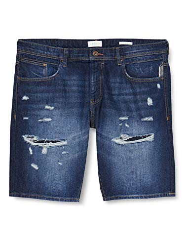 edc by ESPRIT Herren 040CC2C306 Jeans-Shorts, 901/BLUE Dark WASH, 31