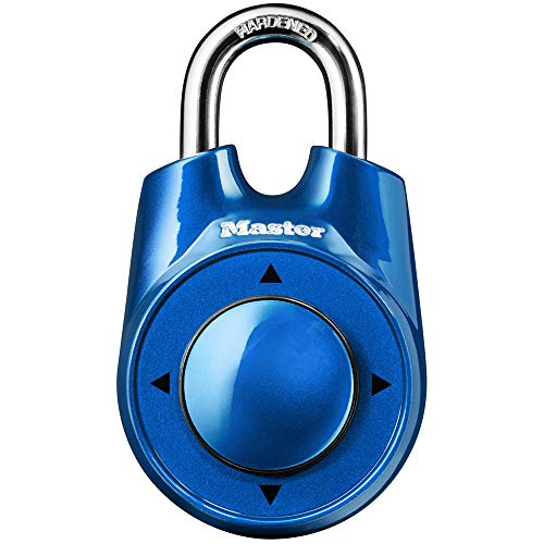 Master Lock 1500iD Locker Lock Set Your Own Directional Combination Padlock, 1 Pack, Assorted Colors